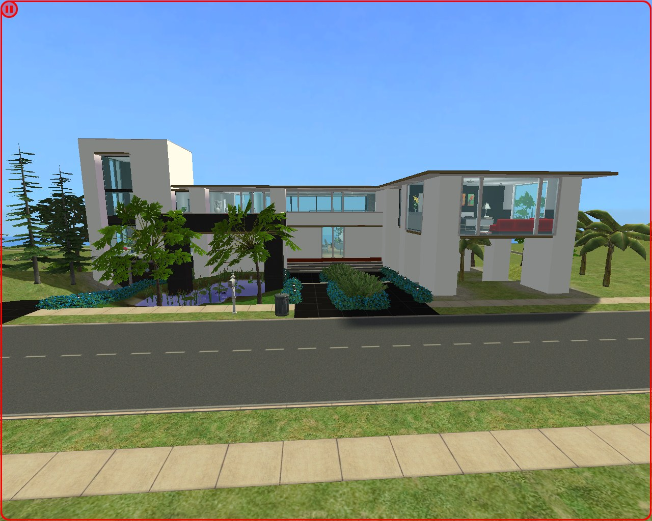 Mod the sims large modern mountain family house no cc for Modern house ep 9