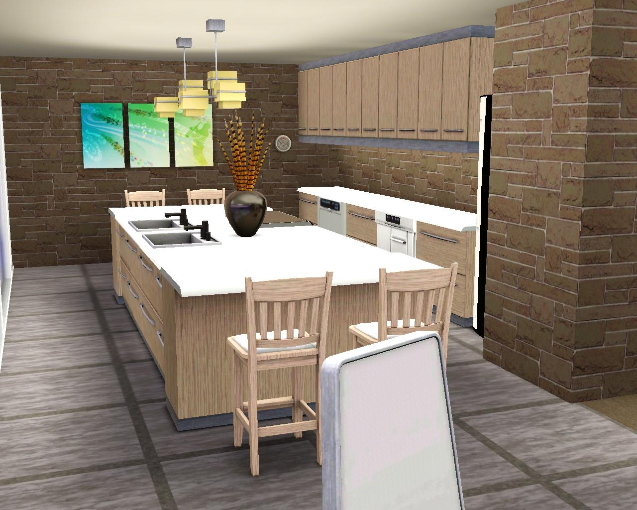 Sims Kitchen How To Make A Kitchen Island In Sims 3 Best Kitchen Island 2017