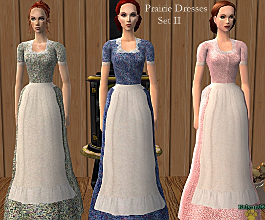 Mod The Sims Old Fashioned Prairie Style Dresses With Aprons
