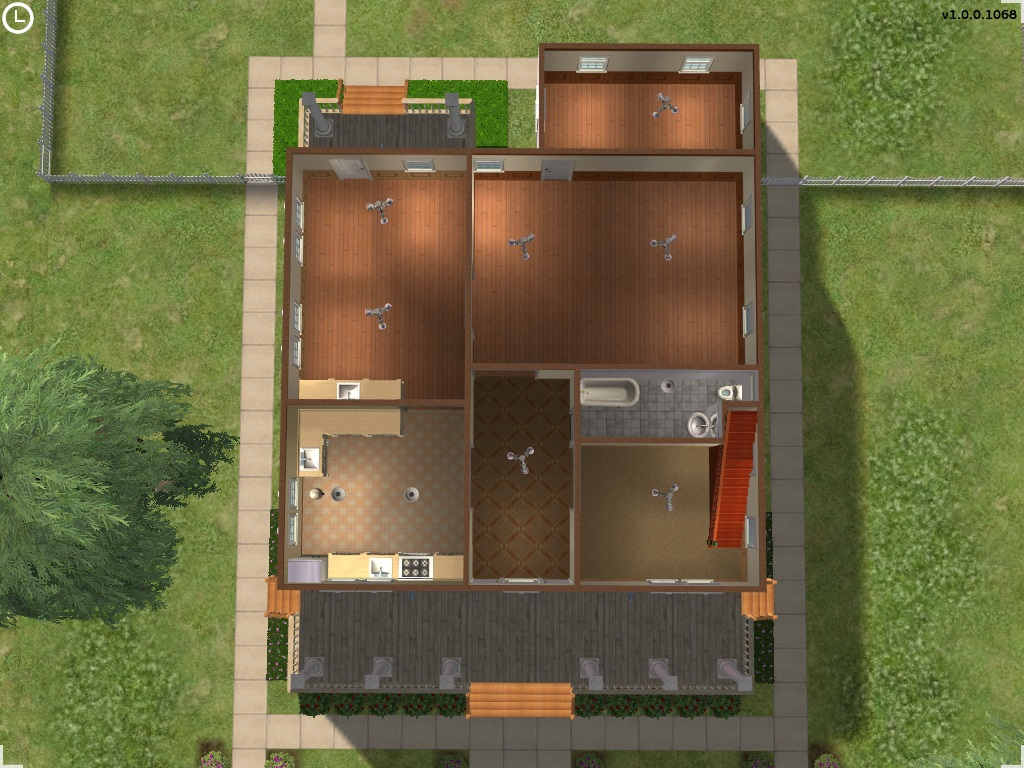 Mod the sims 1800 39 s federal in white for 1800 floors