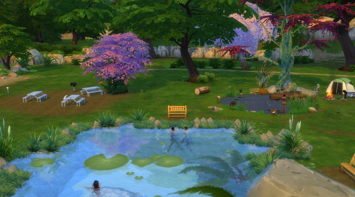 Mod the sims lilypad lake park swimming fishing for Sims 4 fishing