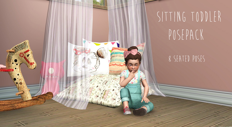 Mod The Sims - Sitting Toddler Poses