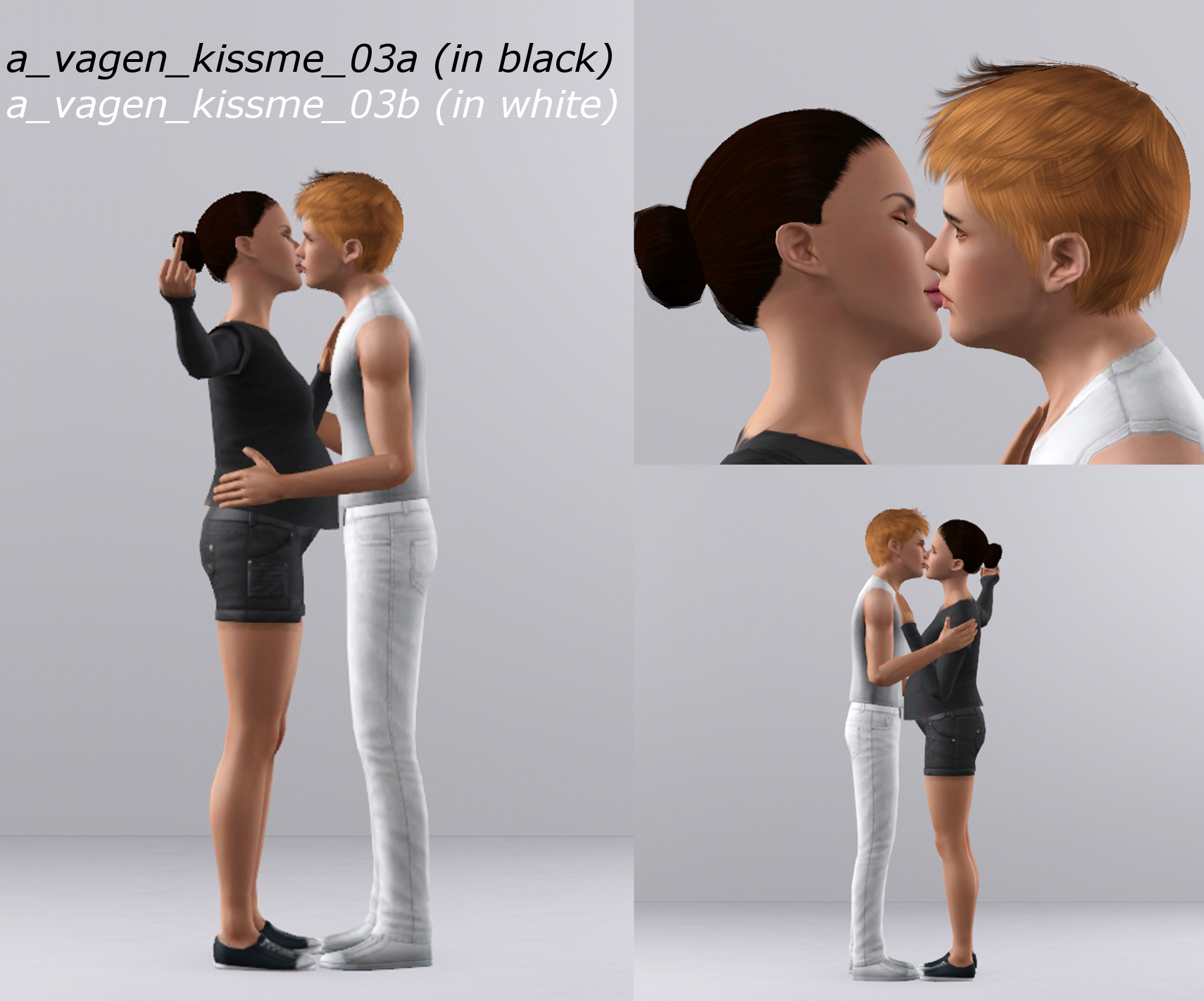 Mod The Sims - Kiss Me (like a movie star) - A Couples Pose Pack