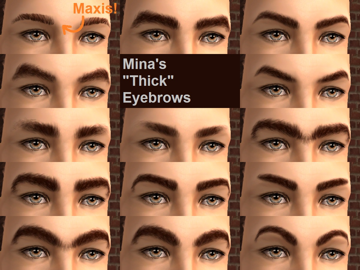 Mod The Sims Minas Thick Eyebrows
