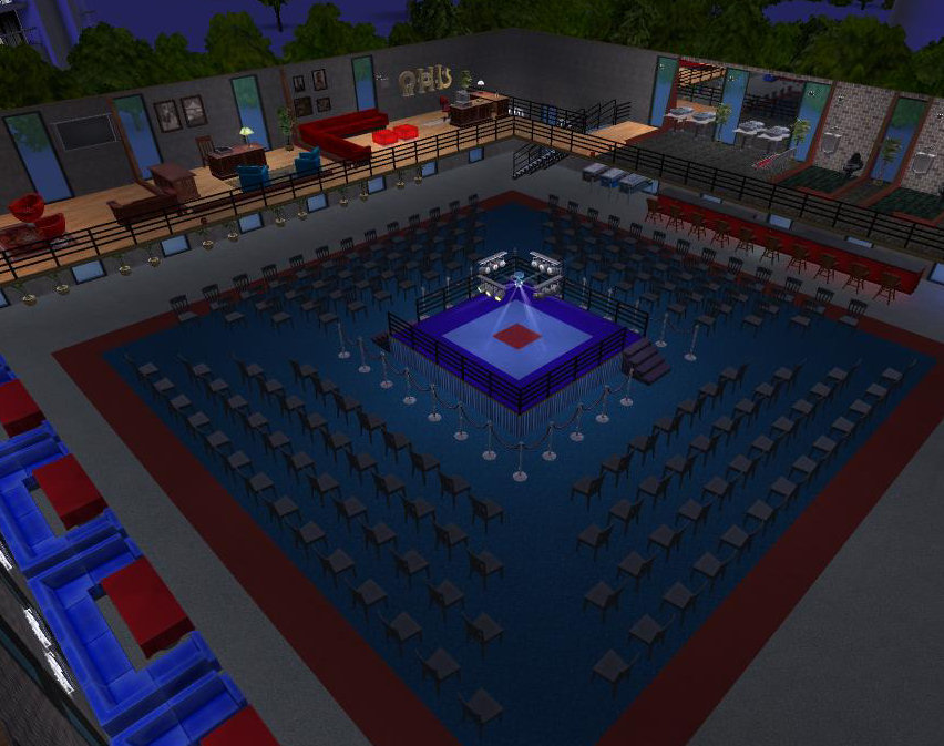 Mod The Sims Fight Club 3x3 Community Boxing Ring