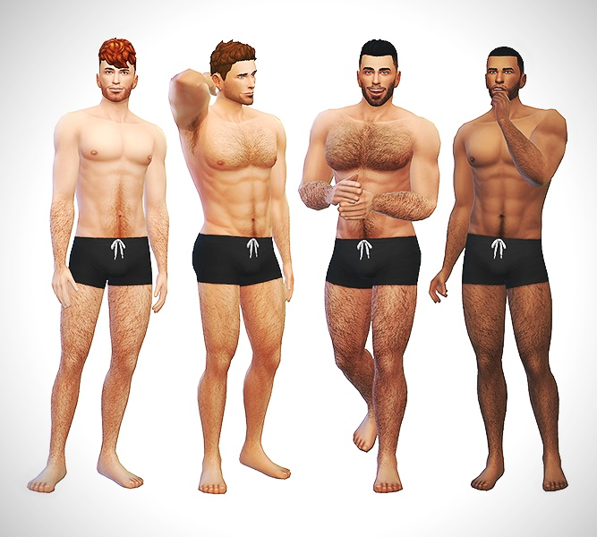 Amazing Mod The Sims Body Hair V4 Hairstyles For Women Draintrainus