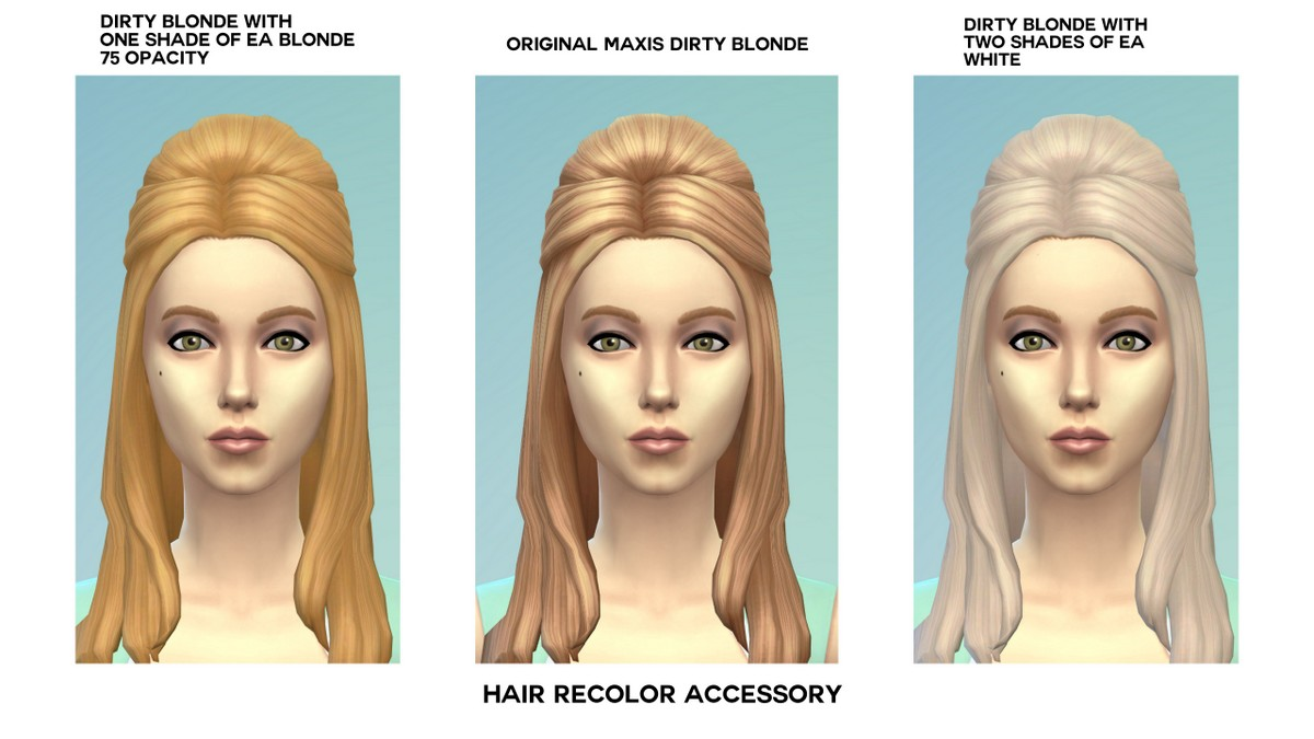 Mod The Sims Maxis Hair Recolorhair Dye Accessory