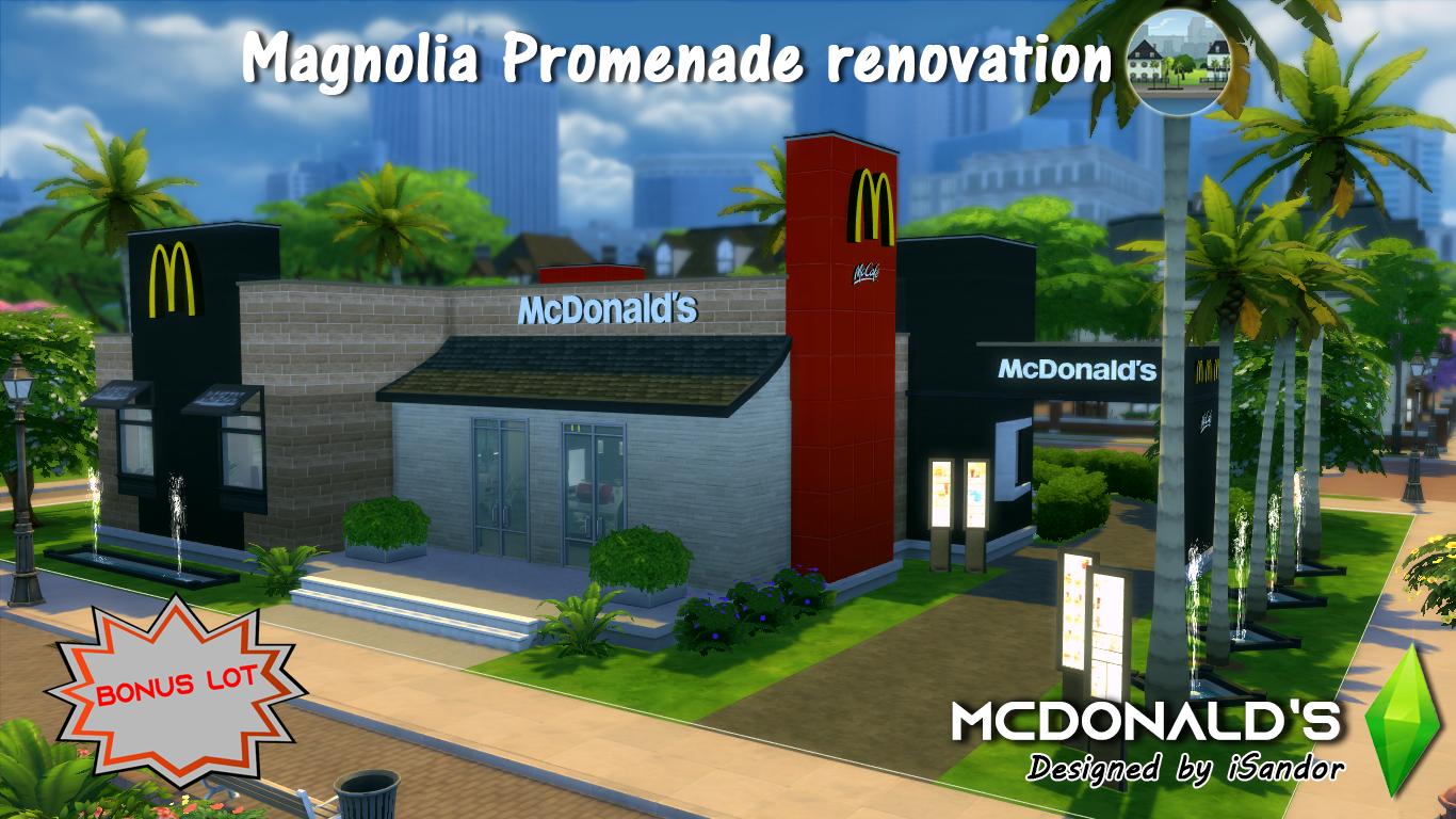 Готовый участок McDonalds