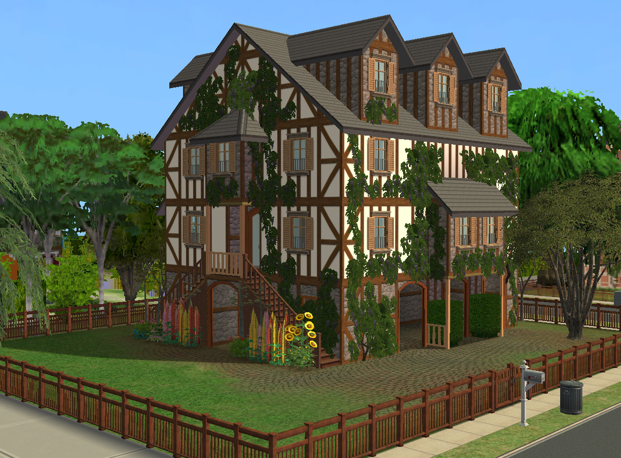 Mod the sims pavillon jasmine kind of old medieval for Classic house sims 4