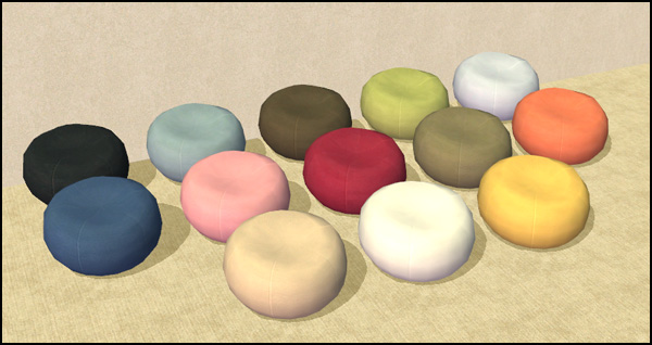 Mod The Sims Novelty Collection Part I Bean Bag Chairs