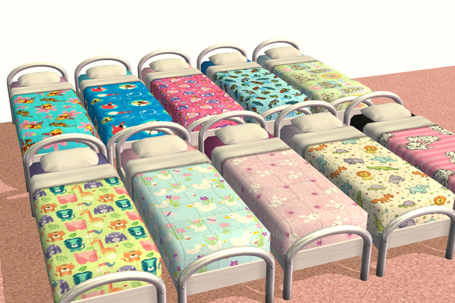 Mod The Sims Kids Bedding Collection
