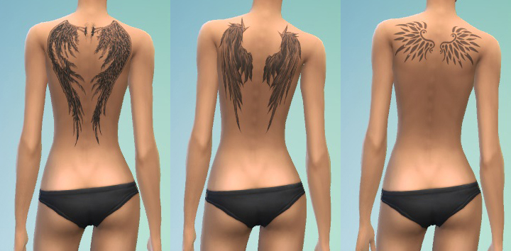 Mod The Sims Kf Tat Pack 7 Wings