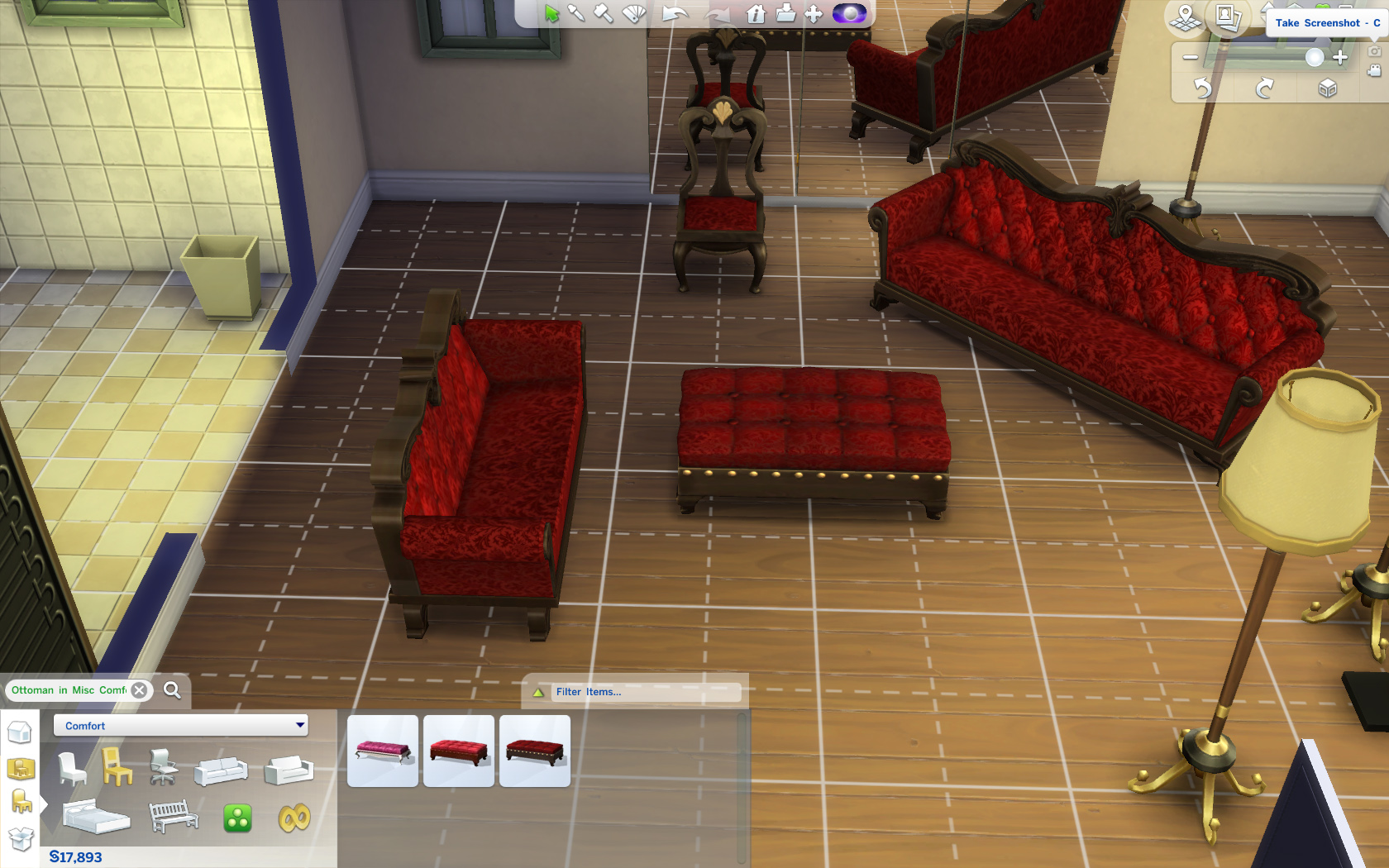 Mod The Sims Gothic Thistle Furniture Set