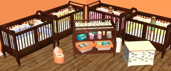 Mod The Sims A Nursery For Multiples The Kaian