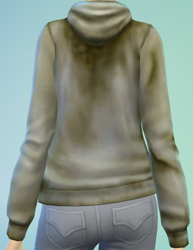 Mod The Sims - Dirty Grey Hoodie for Females Teen to Elder