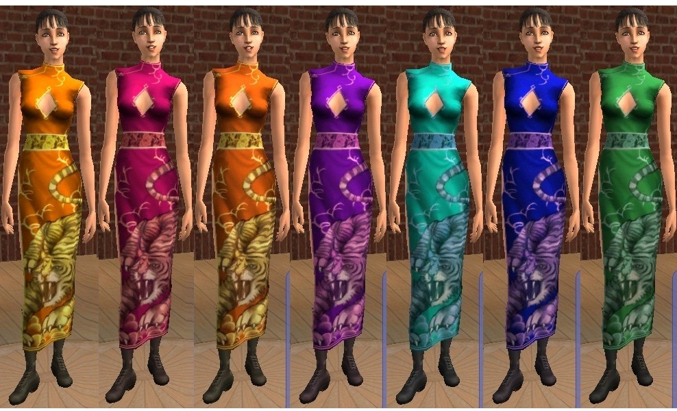 Sims 2 red dress 1x