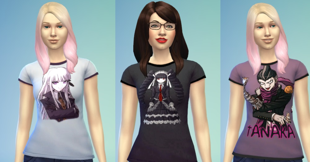 Mod The Sims Shsl Dangan Ronpa Shirts For Females Updated