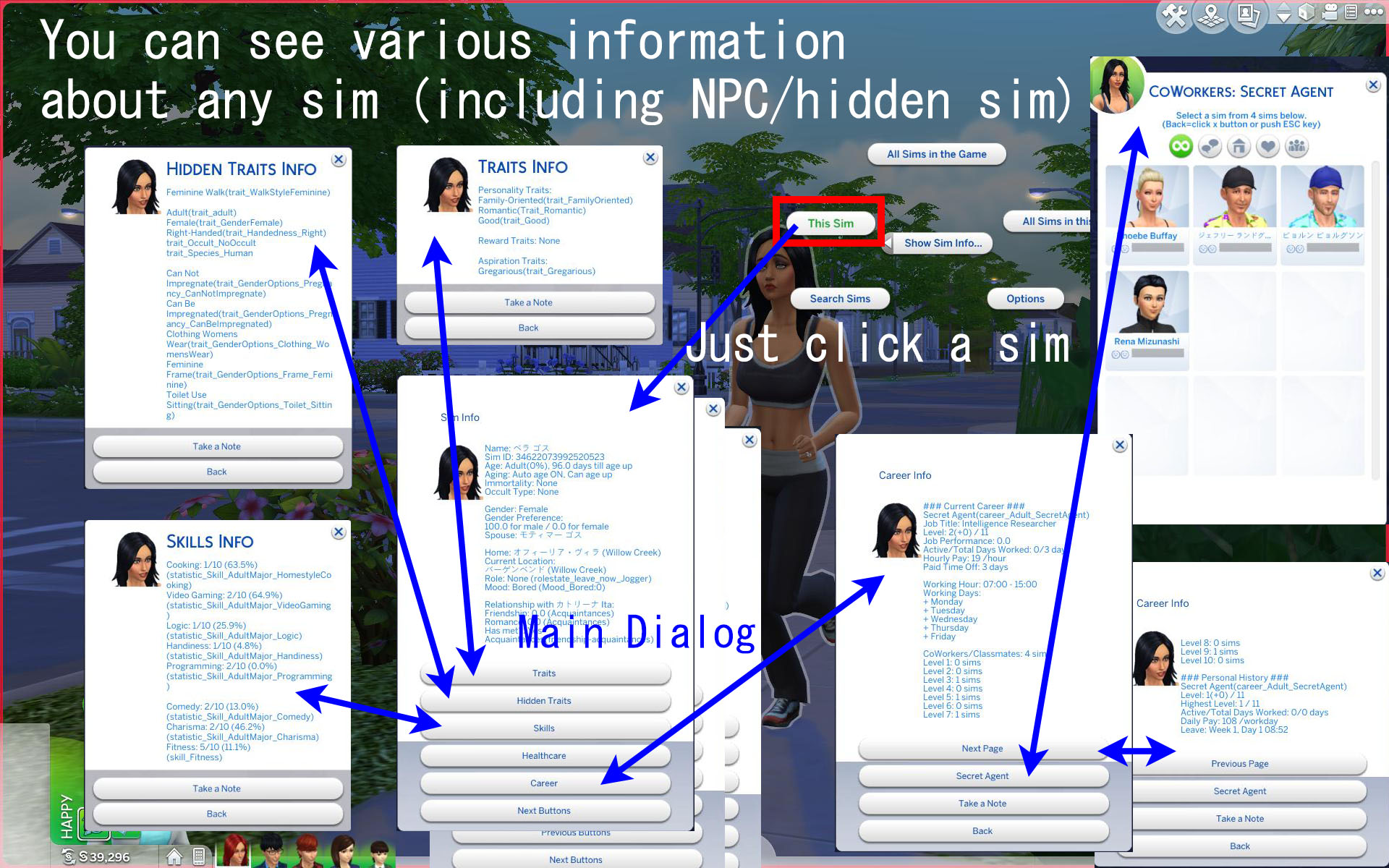 Mod The Sims - Show/Search Sim Info Mod