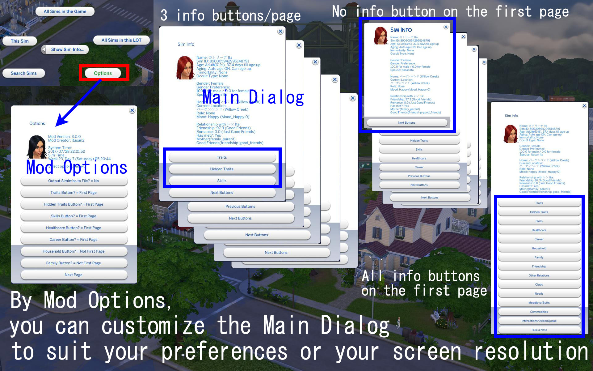Mod The Sims Show Search Sim Info Mod