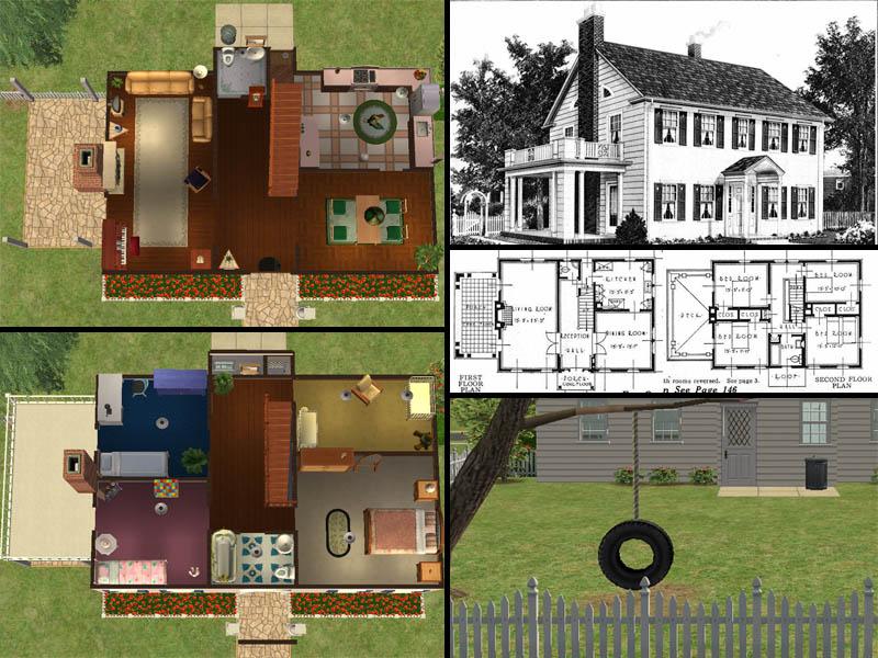 Mod The Sims - The Lexington - Sears Modern Homes 1927-1932 ...