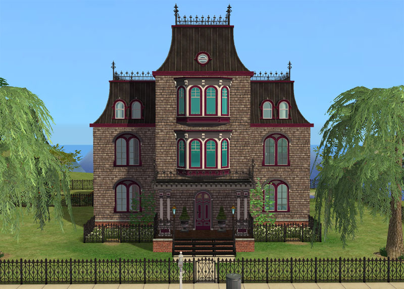 Mod The Sims Goth Mansion S Second Empire Makeover