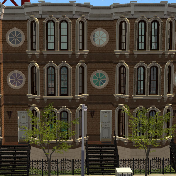 Mod The Sims Elegant Brownstone Townhouses