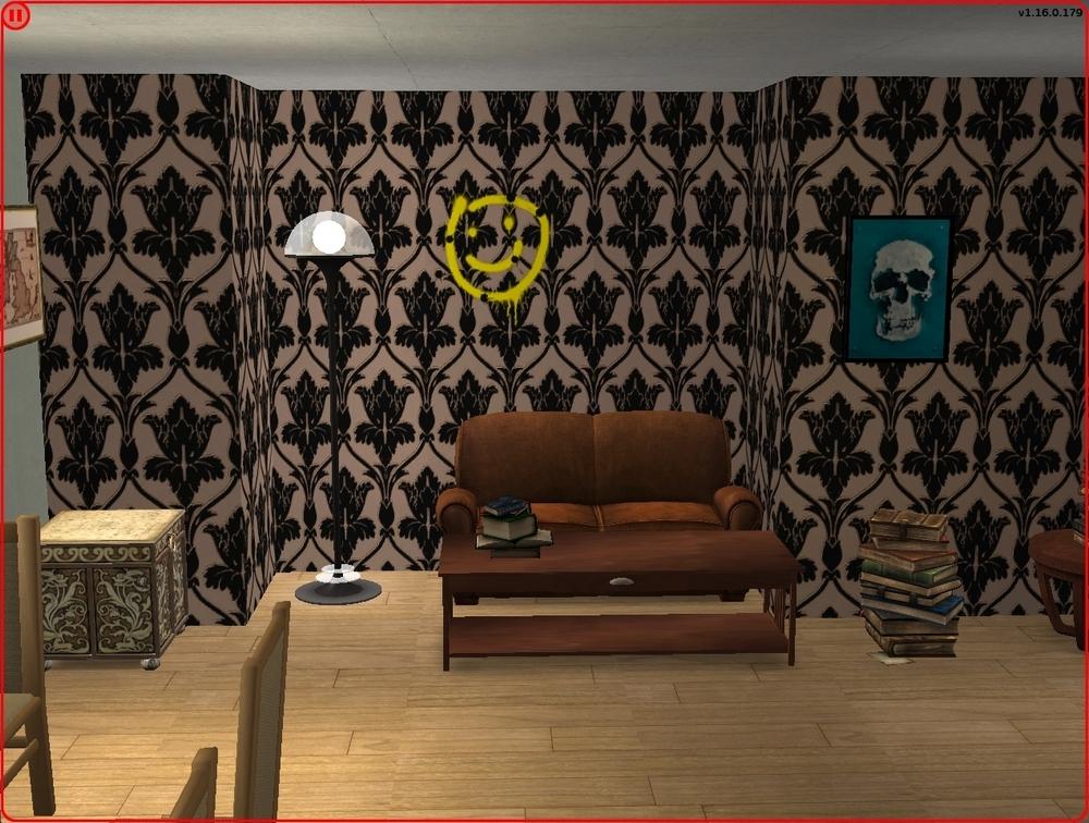Mod The Sims Bbc Sherlock Living Room Wallpaper