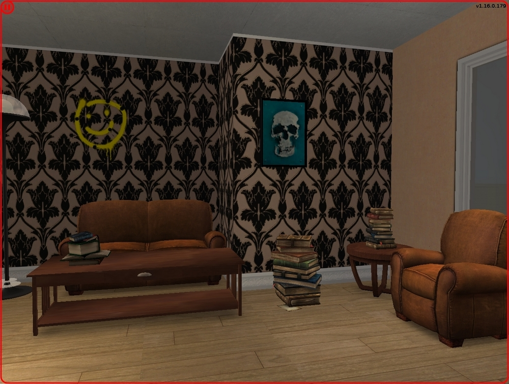 Mod The Sims Bbc Sherlock Living Room Wallpaper