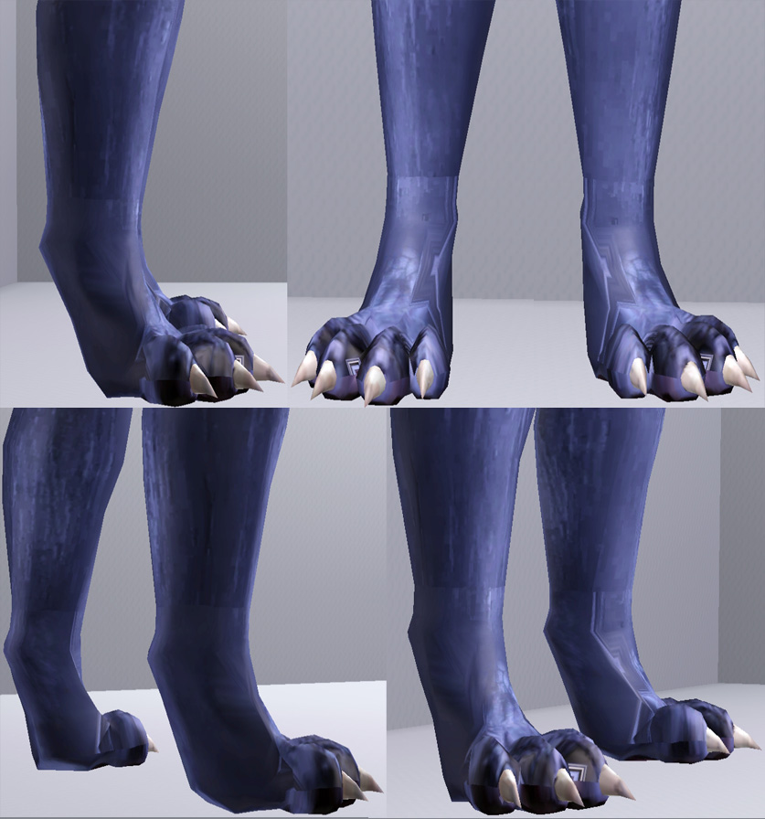 Mod The Sims Wolf Feet For All