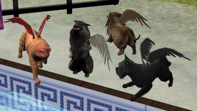 Mod The Sims Winged Wuffums Default Fur Accessories