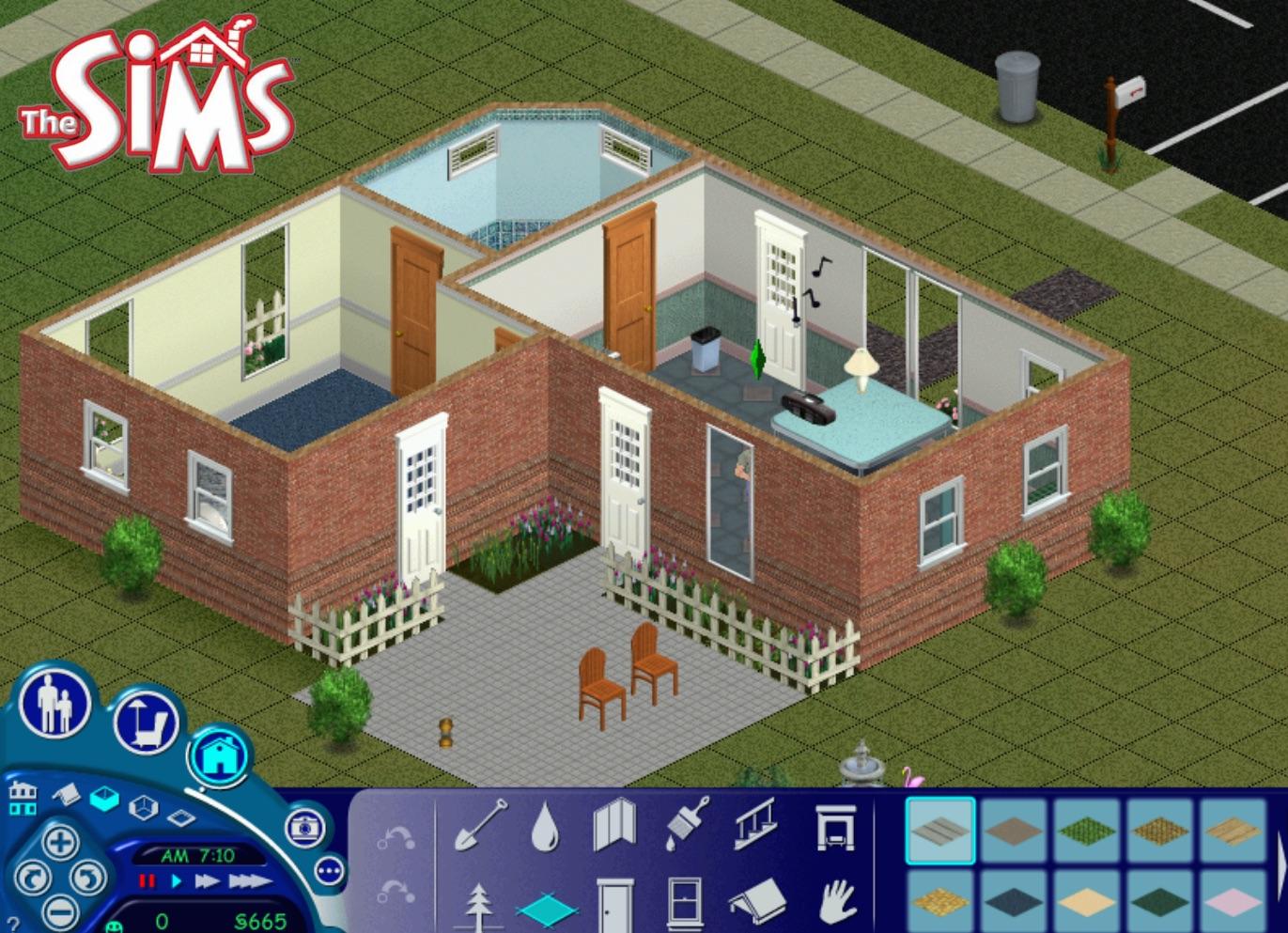 mod the sims sims 1 4 newbie house 7 sim lane. Black Bedroom Furniture Sets. Home Design Ideas