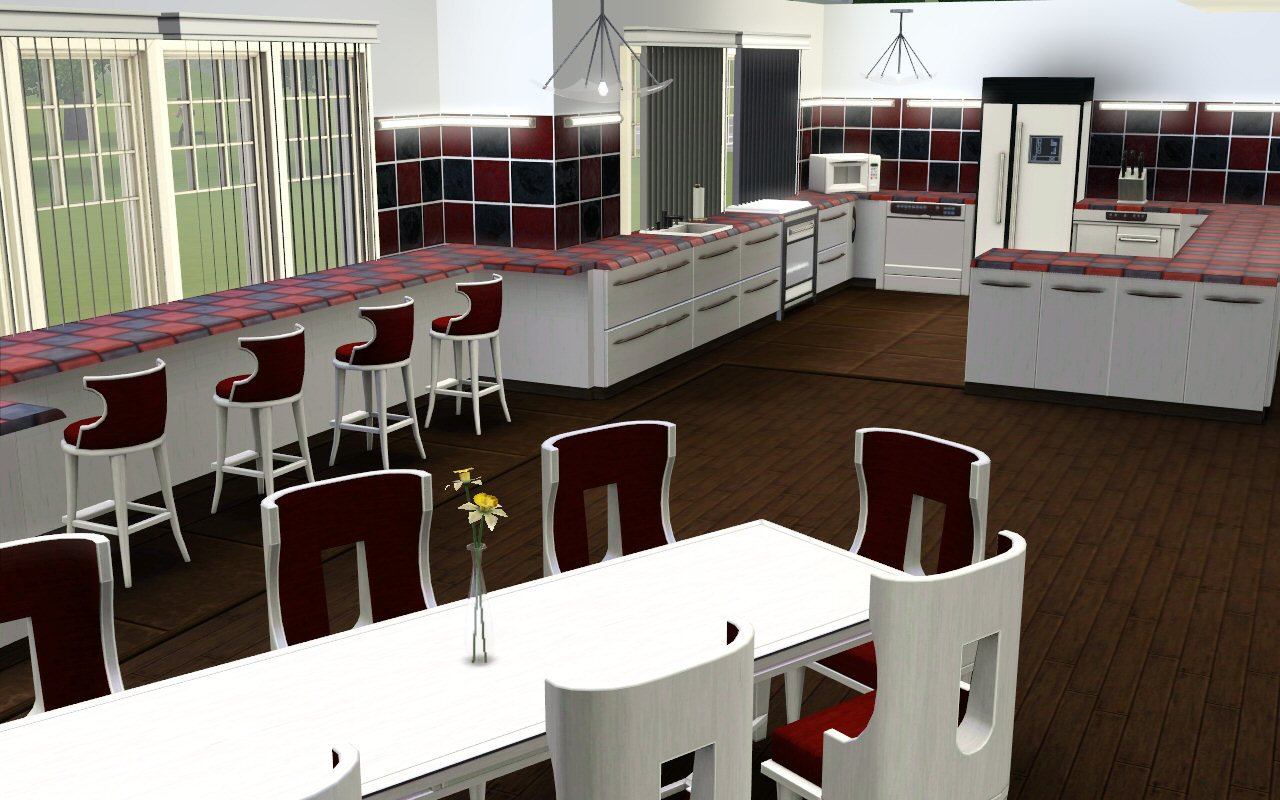 Mod the sims the kenmore manor for Sims 2 kitchen ideas