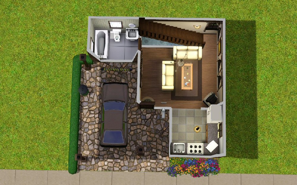 Mod the sims the tiny starter for Sims 4 house plans