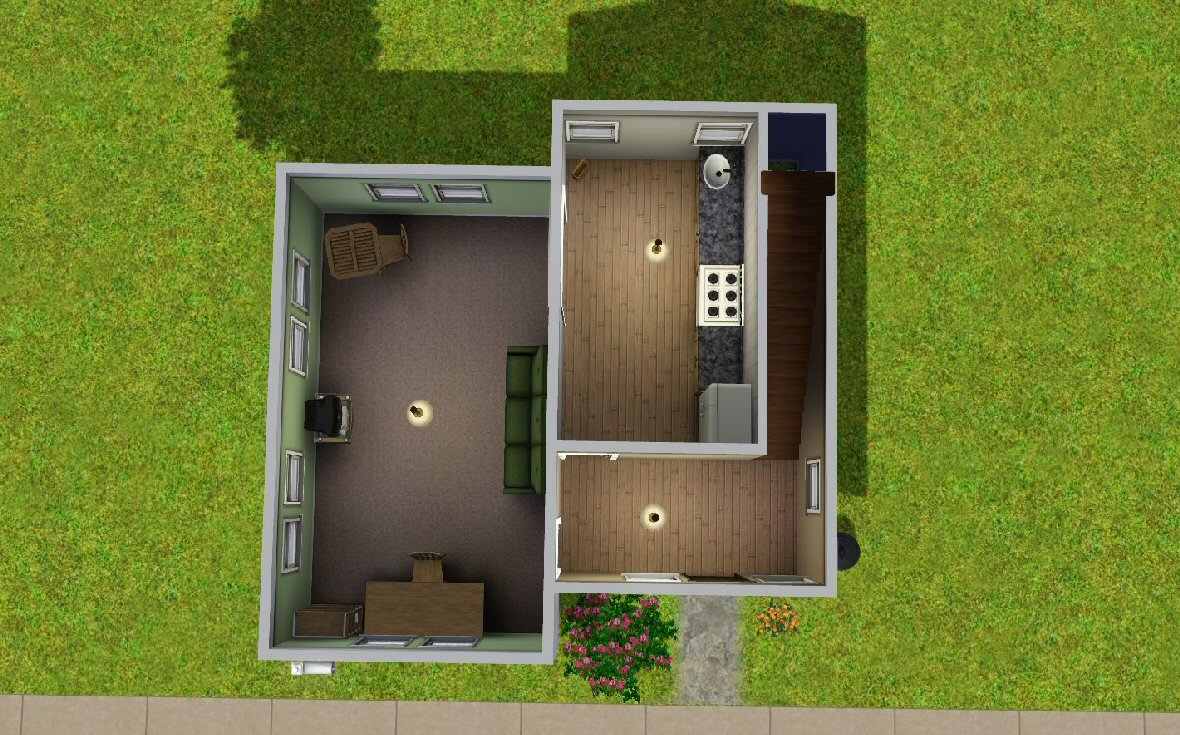 Mod the sims the budget starter house for Small starter homes