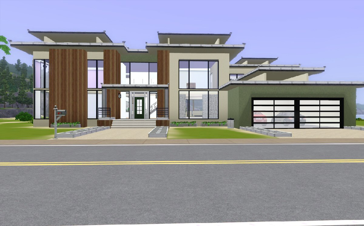 Mod the sims modern beach house for Modern homes