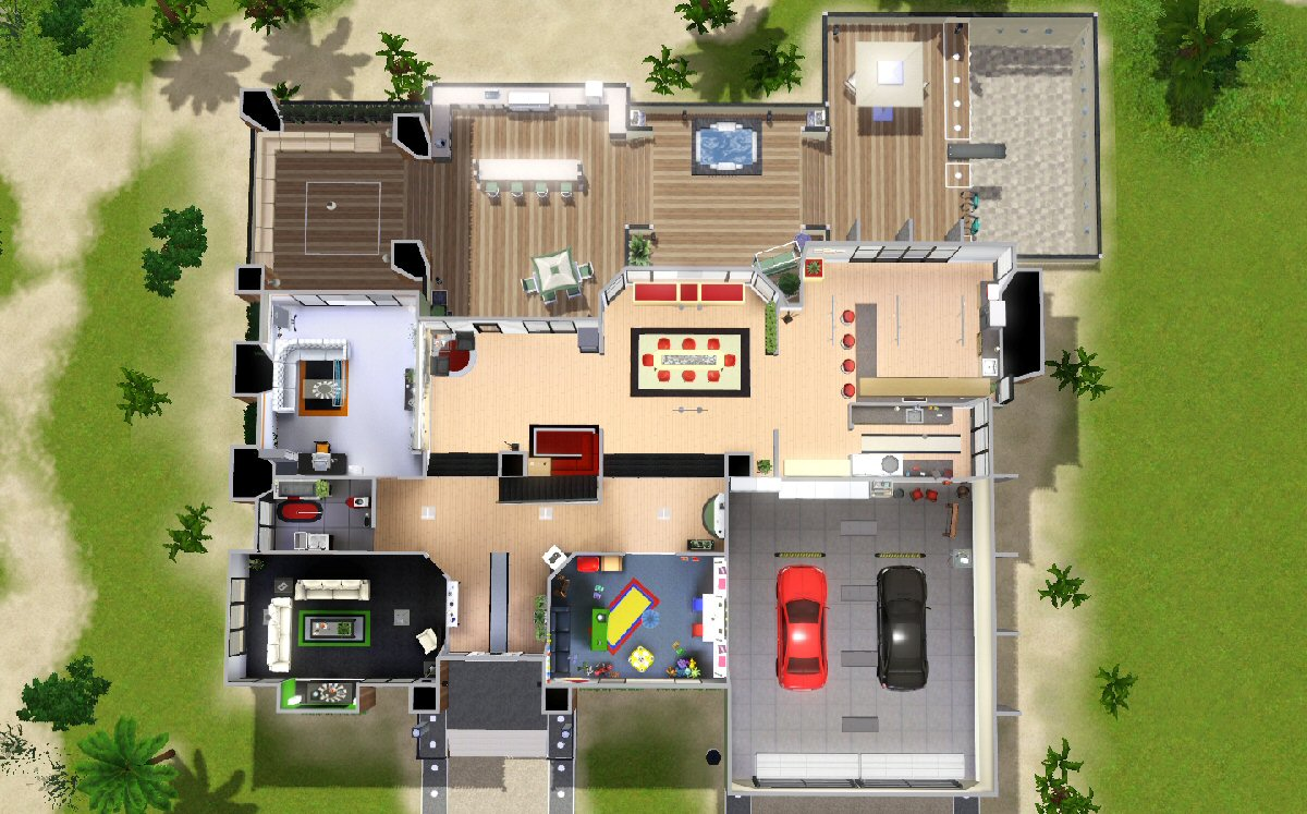 515722 on Sims 3 Small House Floor Plans