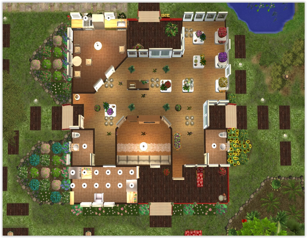 Mod the sims fiona 39 s flower shop for Flower shop design layouts
