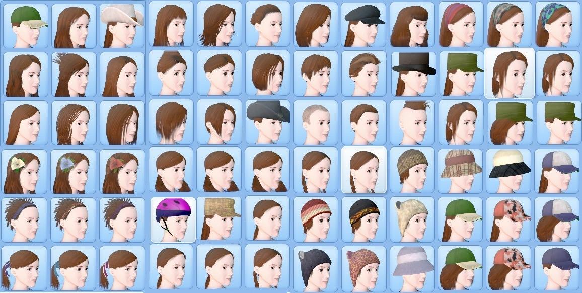 Mod The Sims No More Base Game Hair Female