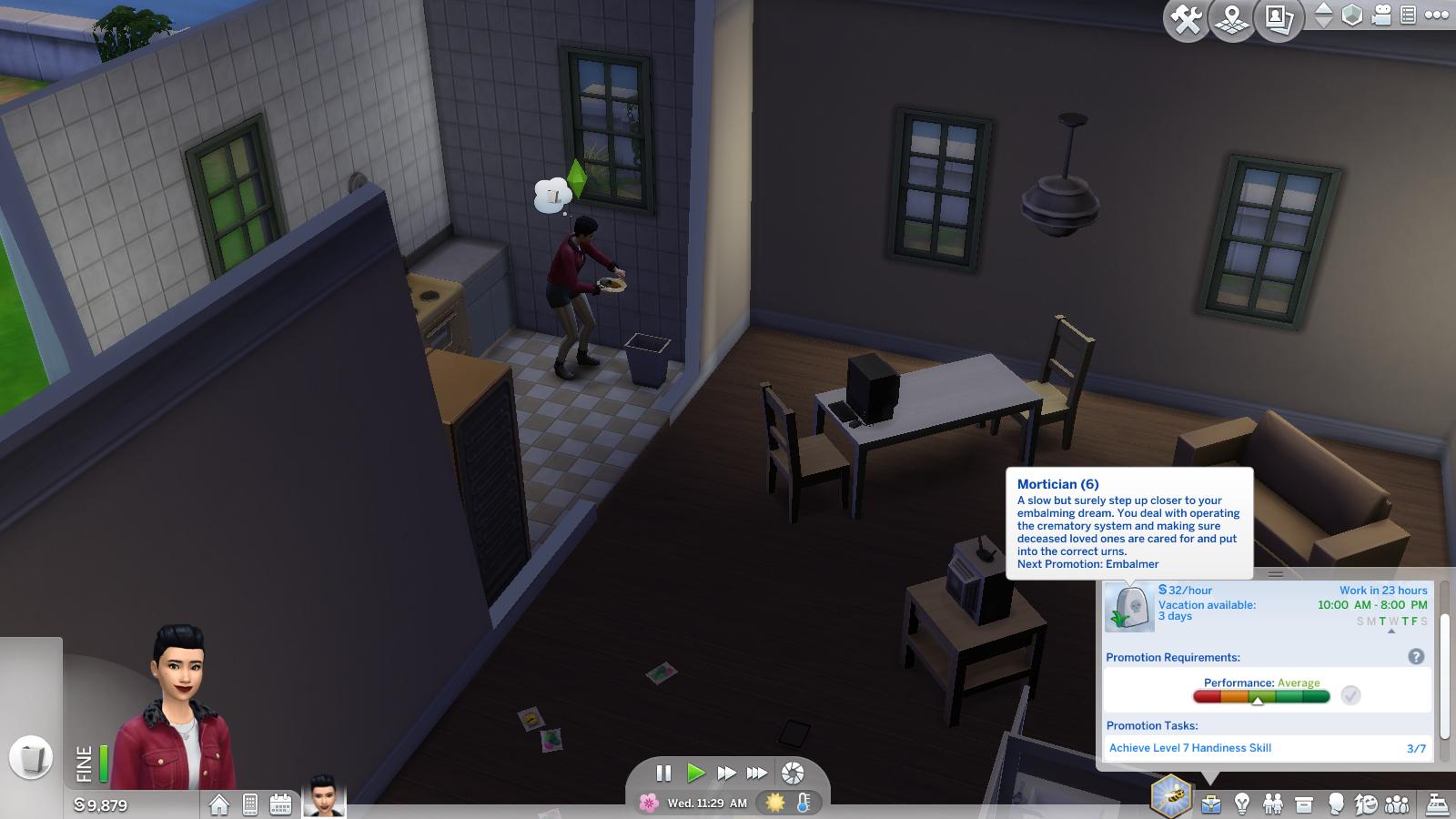 Sims 4 Карьера Гробовщика
