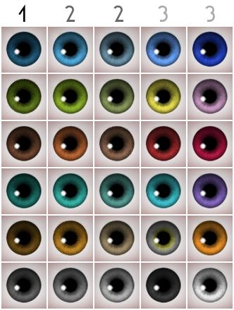 Mod The Sims - Maxis-Match eyeset (custom, gen, default)