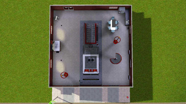 mod the sims - modestly small fire station (2×2 lot)