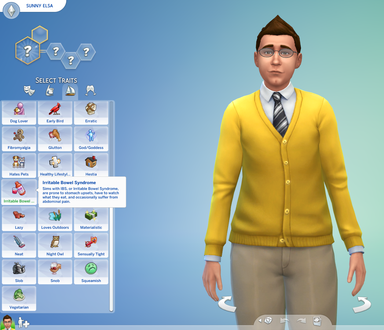 Mod The Sims - Crohn's Disease and IBS CAS Traits