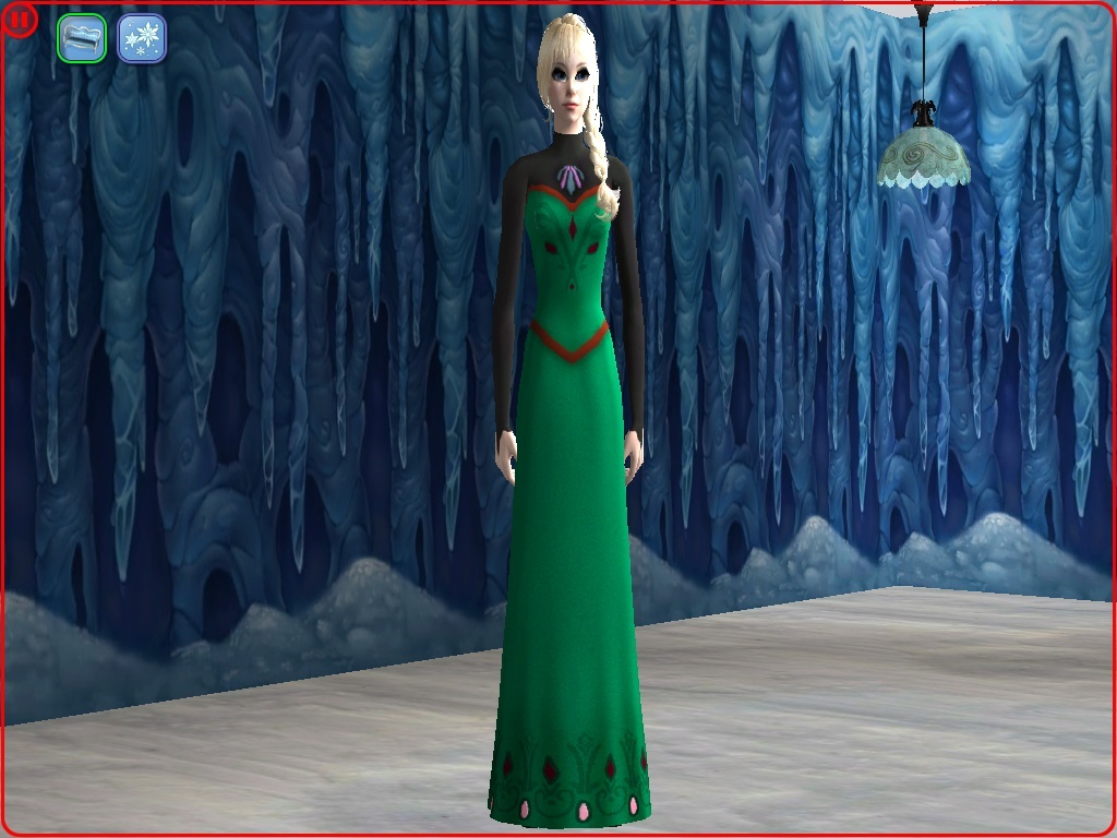 Sims 3 blue dress yearbook