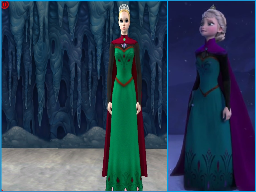 Anna Frozen Green Dress Full Body Www Pixshark Com