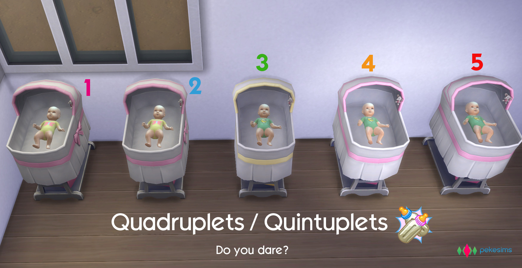 Mod The Sims - Quadruplets / Quintuplets / Sextuplets (Updated!)