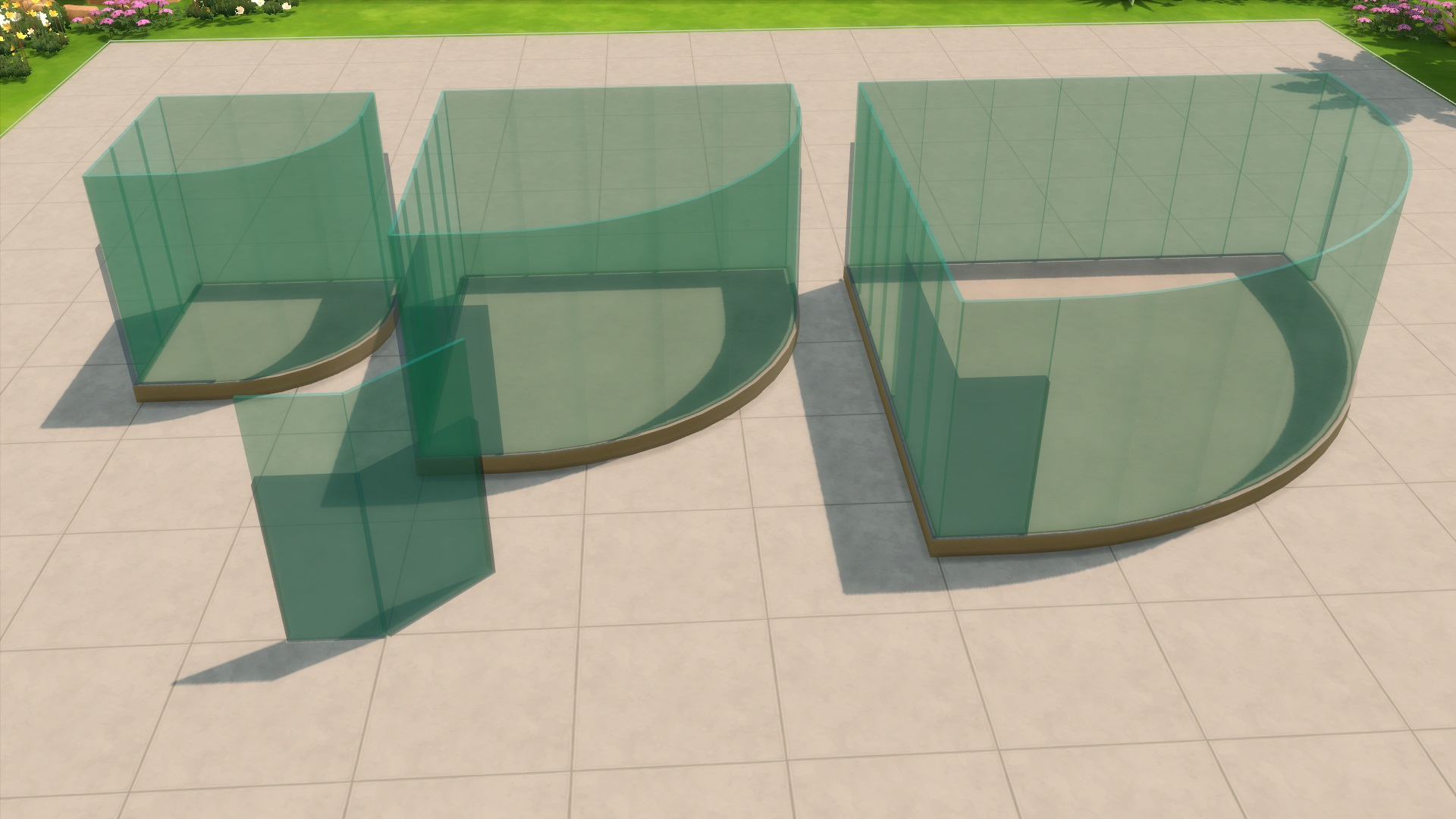 Mod The Sims Blue Glass Fence Update 03 06 15