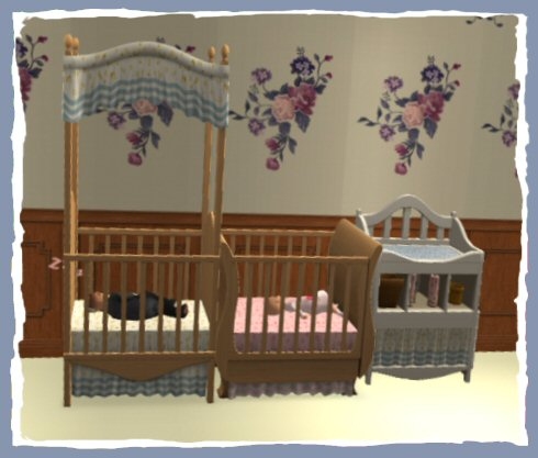 Mod The Sims One Tile Free Time Cribs And Changing Table