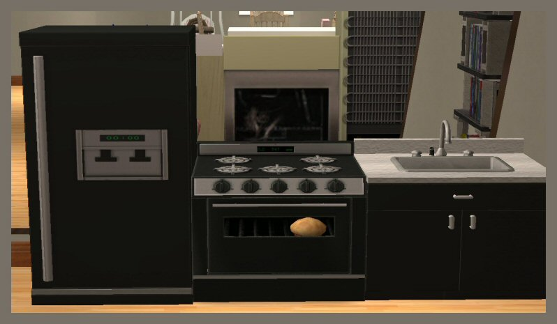 Mod the sims childrens functional kitchen set for Kitchen set cicilan 0