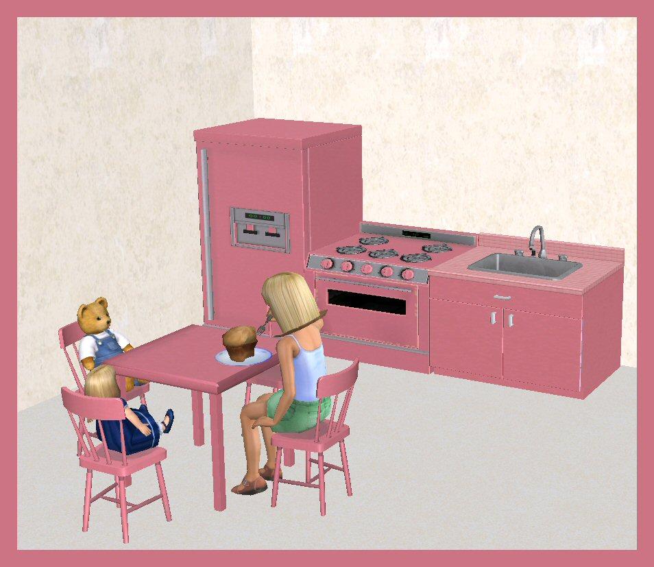 Functional Copper Kids Kitchen Set: Childrens Functional Kitchen Set