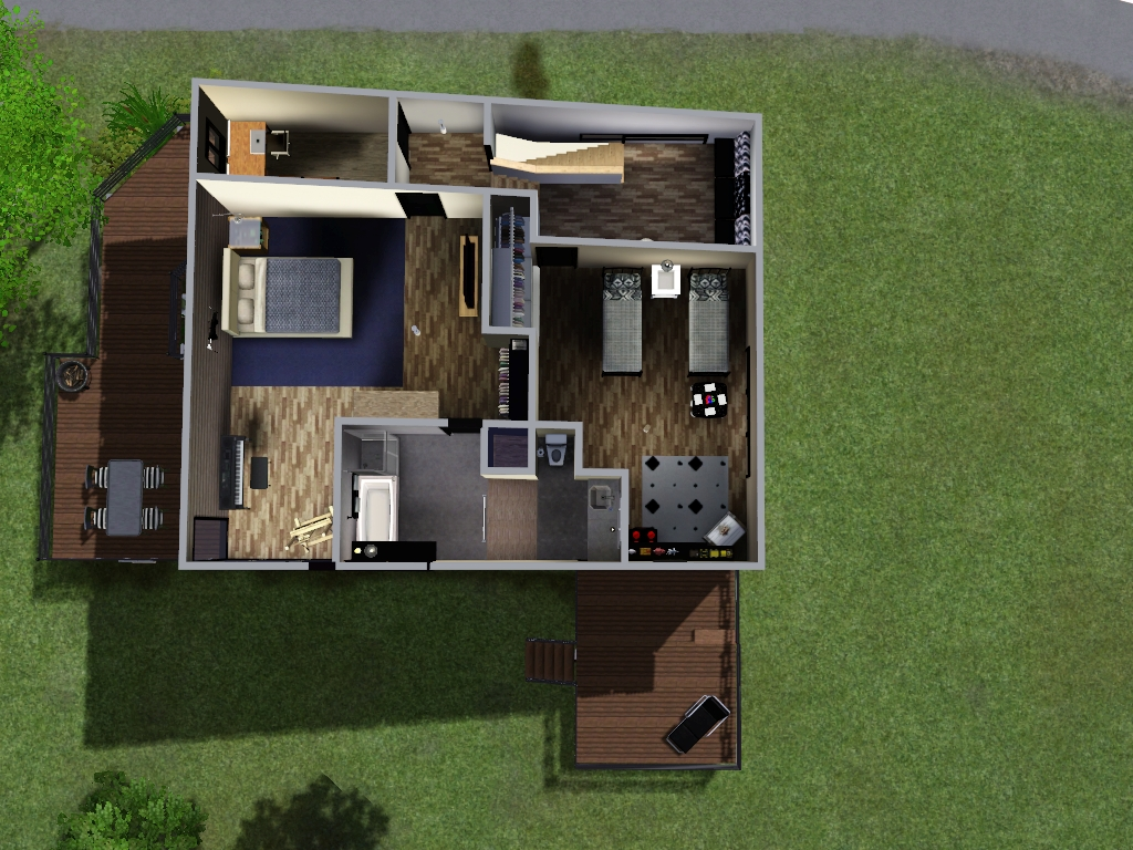 mod the sims split level home 20x20 no cc advertisement